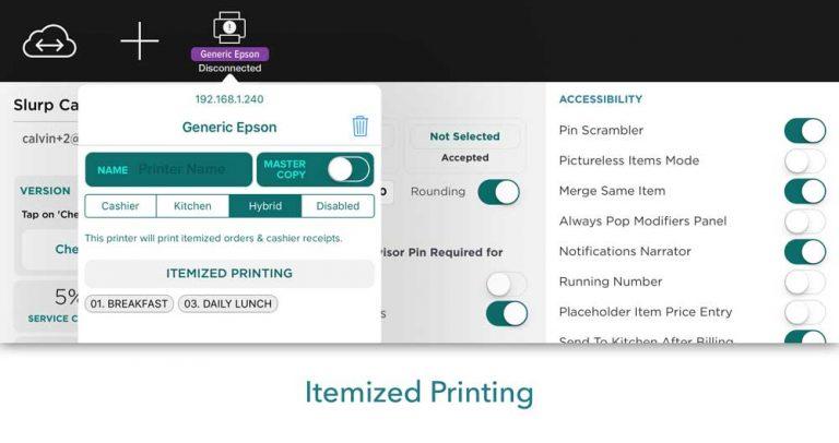 Slurp! Features: Itemized Printing