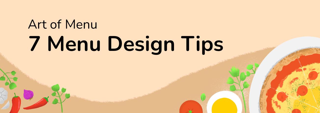 Menu Guide: 7 Easy Menu Design Tips